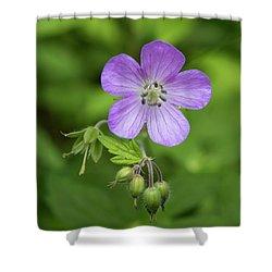 Wild Geranium Shower Curtain