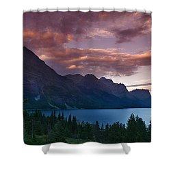 Wild Goose Island Glacier National Park Shower Curtain by Rich Franco