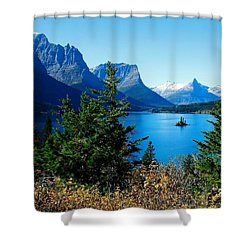 Wild Goose Island In The Fall Shower Curtain