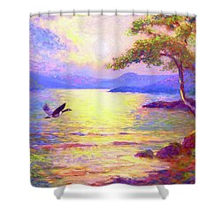 Wild Goose, Moon Song Shower Curtain