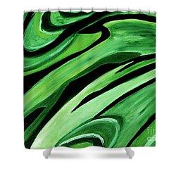Wild Green Shower Curtain