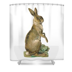 Shower Curtain featuring the digital art Wild Hare by ReInVintaged