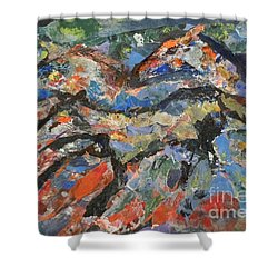 Wild Horses Shower Curtain by Ellen Anthony