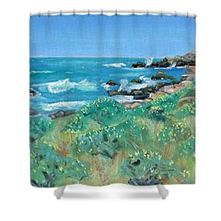 Wild Lupin At Gerstle Cove Park In May Shower Curtain
