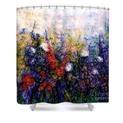 Wild Meadow Flowers Shower Curtain by Claire Bull