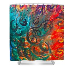 Wild Movement  Shower Curtain