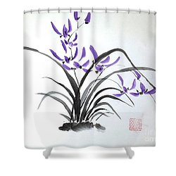 Wild Orchids Shower Curtain