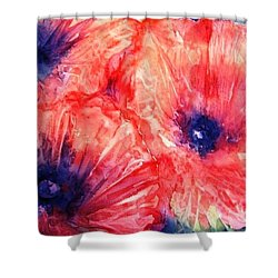Wild Poppies Shower Curtain by Trudi Doyle