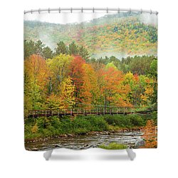 Shower Curtain featuring the photograph Wild River Bridge by Susan Cole Kelly