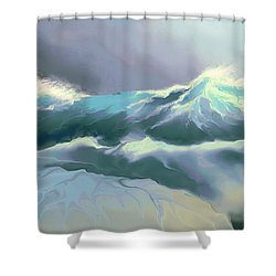 Wild Sea Shower Curtain by Corey Ford