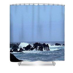Wild Sea In Madeira Shower Curtain