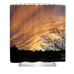 Wild Sky Of Autumn Shower Curtain by Barbara Griffin
