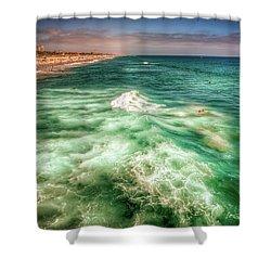 Wild Surfing Shower Curtain
