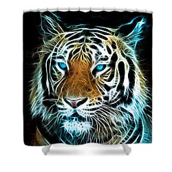 Shower Curtain featuring the digital art Wild Thang by Karen Showell