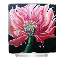 Shower Curtain featuring the painting Wild Thing by Carol Duarte