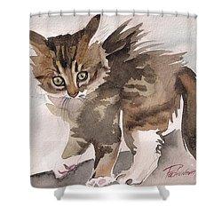 Wild Thing Shower Curtain by Yuliya Podlinnova