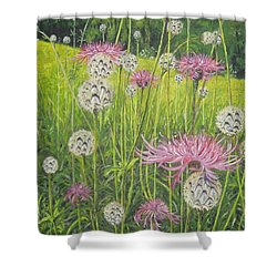 Wild Thistles Shower Curtain