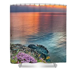 Wild Thyme By The Sea Shower Curtain by Evgeni Dinev