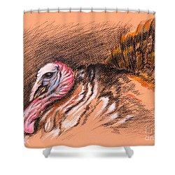 Wild Tom Turkey Shower Curtain by MM Anderson