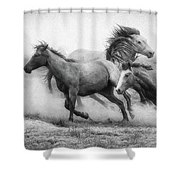 Shower Curtain featuring the photograph Wild West by Kelly Marquardt
