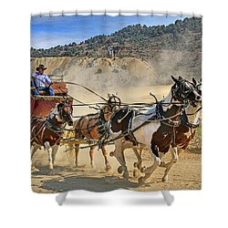 Wild West Ride Shower Curtain by Donna Kennedy
