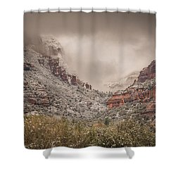 Boynton Canyon Arizona Shower Curtain by Racheal Christian