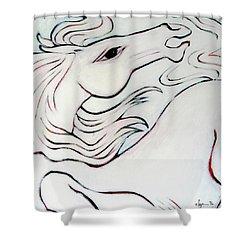 Wild White Shower Curtain