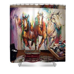 Wild Wild Horses Shower Curtain