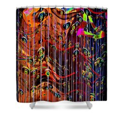 Shower Curtain featuring the photograph Wild Wind Chimes by Sue Melvin