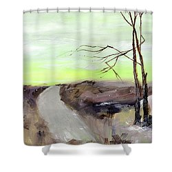 Shower Curtain featuring the painting Wilderness 2 by Anil Nene