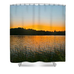 Wilderness Point Sunset Panorama Shower Curtain