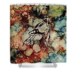 Shower Curtain featuring the painting Wilderness Warrior by Denise Tomasura