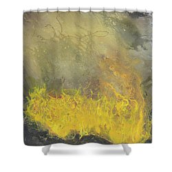 Wildfire Shower Curtain by Antonio Romero