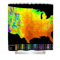 Wildfire Frequency Shower Curtain