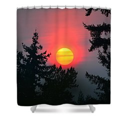 Wildfire Sunset Shower Curtain