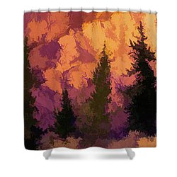 Wildfires Shower Curtain