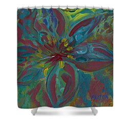 Shower Curtain featuring the painting Wildflower 1 by John Keaton