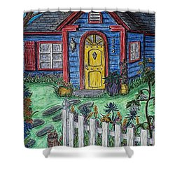 Wildflower Cottage Shower Curtain