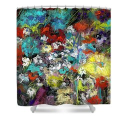 Shower Curtain featuring the painting Wildflower Field by Frances Marino