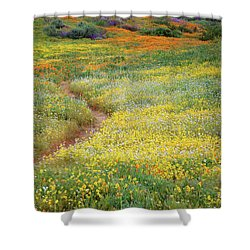 Shower Curtain featuring the photograph Wildflower Field Near Diamond Lake In California by Jetson Nguyen