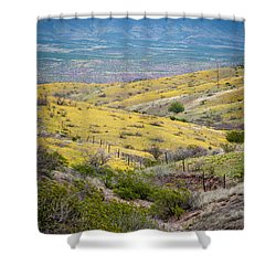 Wildflower Meadows Shower Curtain by Karen Stephenson