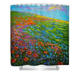 Wildflower Pastoral Shower Curtain