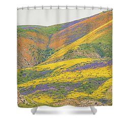 Shower Curtain featuring the photograph Wildflowers At The Summit by Marc Crumpler