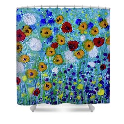 Wildflowers Never Die Shower Curtain