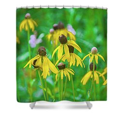 Shower Curtain featuring the photograph Wildflowers Of Yellow by Bill Pevlor
