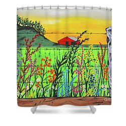Wildflowers On The Farm Shower Curtain