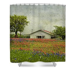 Wildflowers Texas Shower Curtain