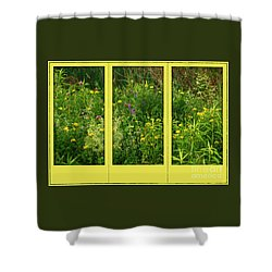 Wildflowers Through A Window Shower Curtain