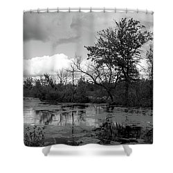 Wilds Along The Channel Shower Curtain
