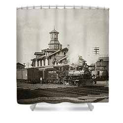 Wilkes Barre Pa. New Jersey Central Train Station Early 1900's Shower Curtain